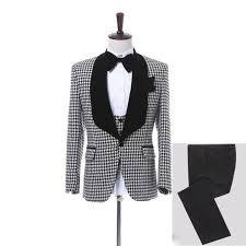 Mens Lapel 3 Piecetux Up To Size 5xl Jacket Pants Bow Tie Vest