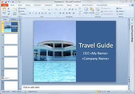 Good Powerpoint Examples Presentation Title In Powerpoint