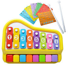 2018 new children s playing toy hand piano children s percussion al instrument percussion instrument eight key hand knock piano infant
