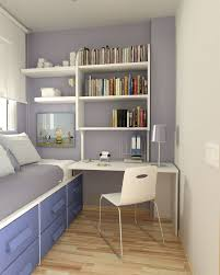 Single bedroom interiors with modern desk and similar to the accent wall  colour i'm thinking of