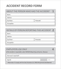 Accident Form Template Of Sample Incident Report Form Best