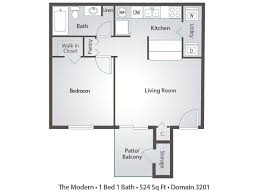 ... 1 Bedroom Apartment Floor Plans Pricing Domain 3201 Tucson AZ 5 Plush  Design Modern One