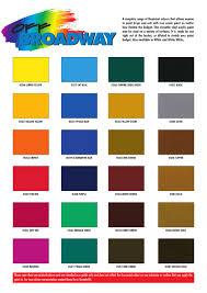 Rosco Paint Color Chart