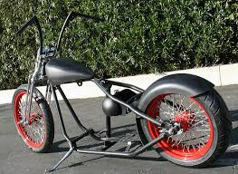 180 or 200 tire bobber rolling chassis custom harley motorcycle