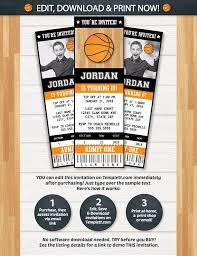 Party Ticket Invitations Unique Basketball Invitations Basketball Ticket Invitation Basketball