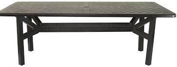 cast aluminum outdoor patio series 4000 44 x 102 rectangle dining table anitque bronze finish