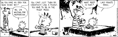 mood calvin and hobbes the full story calvin goes time travelling instead of writing a story for his paper