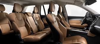 2017 volvo xc90 interior. nappa leather amber in charcoal interior (rb20) 2017 volvo xc90