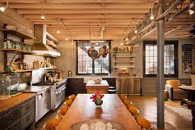 office track lighting. Industrial Track Lighting Kitchen With Apron Front Sink Concrete Office