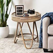 large rattan side table from kirkland s