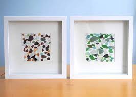 sea glass beach glass framed sea glass