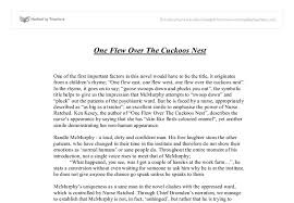 one flew over the cuckoos nest gcse english marked by teachers com document image preview