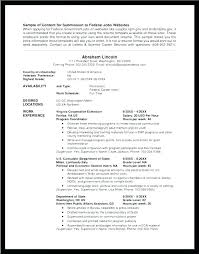 Federal Government Resume Format Custom Federal Government Resume Format Resume Ideas