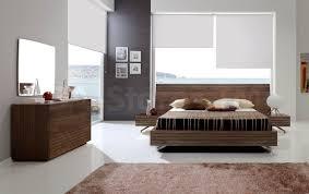 Paris  PC Contemporary Bedroom Set In Walnut Bed  Nightstands - Contemporary bedrooms sets