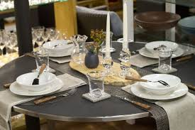 weekly table setting concrete and carbon round table settings placemats for round tables
