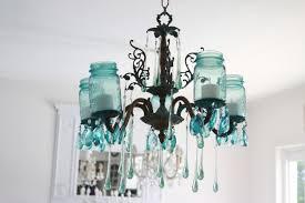 forest mason jar chandelier diy