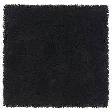 hampen rug high pile black x cm  ikea