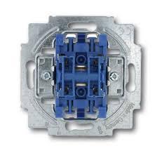 Выключатель <b>двухклавишный ABB BJE</b> 10A 250V с подсветкой ...