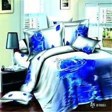 blue camo bedding sets home textiles cotton set king or queen rose flower in twin blue camo bedding