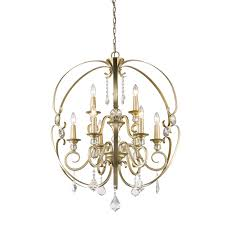 golden lighting chandelier. Golden Lighting 1323-9-WG Ella 9 Light Chandelier In White Gold