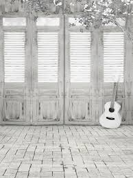 white photography background. Simple White 2018 Indoor Photography Backdrop Brick Floor Vintage Wooden Doors White  Flowers Guitar Kids Children Photo Shoot Background For Studio From Backdropstore  Intended D