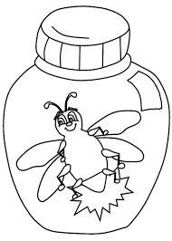 firefly coloring page in a jar free printable pages