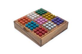 Sudoku Wooden Board Game Instructions Colored Suduko Traditional Wooden Game 30
