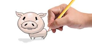 drawing a cartoon pig how to draw a cartoon pig you