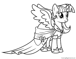 My Little Pony Princess Twilight Sparkle 02 Coloring Page
