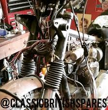 uncovering an original 1968 triumph tiger tr6r motorcycle 1971 BSA A65 Lightning at Bsa A65 Wiring Harness Routing
