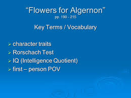 "flowers for algernon"" pp ppt  2 ""flowers"