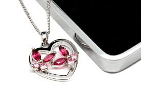 white gold plated pink crystal heart necklace personalised county engraving