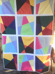 35 best Stack and slash quilts images on Pinterest   Quilting ... & My second stack and slash quilt love the opposite colour tones bordered in  white Adamdwight.com
