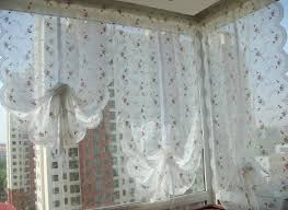 ruffled country style curtains