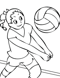 Volleyball Color Pages Volleyball Coloring Pages Volleyball Coloring Page Color This