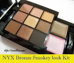nyx bronze smokey look kit review swatches and fotd