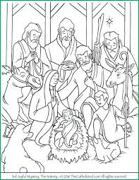 Nativity Coloring Color Page Pages Free Printable For Adults With