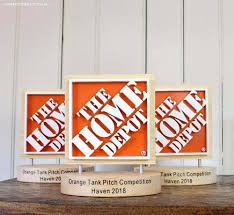 make a dimensional logo using the scroll saw how i made the home depot logo trophies for haven conference using a scroll saw