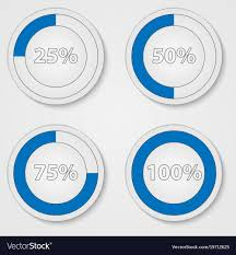 50 Percent Pie Chart Blue Percent Pie Chart