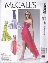 Prom Dress Sewing Patterns Beauteous McCall's Sewing Pattern Misses' Prom Evening Dress Sizes 48 48