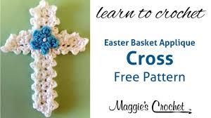 Crochet Cross Pattern New Easter Cross Applique Free Crochet Pattern Right Handed YouTube