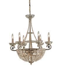 elk 5967 6 4 elizabethan 10 light 26 inch dark bronze chandelier ceiling light