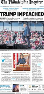Donald Trump impeached: Front pages from around the country