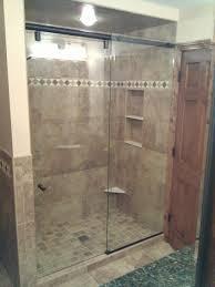 hydroslide frameless shower door with oil rubbed bronze hardware