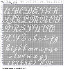 Ravelry Free Filet Crochet Alphabet 3 Pattern By Viktoria