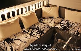 diy outdoor furniture cushions.  Diy Nice DIY Outdoor Cushions No Sew Simple Cushion Re Cover Diy  Picklee With Furniture D