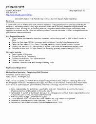 Pharmaceutical Sales Resume Sample Unique Sales Resume Summary