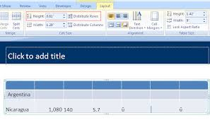 adjust size of image why might powerpoint not let me adjust the height of a table row
