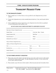 Fillable Online Transcript Request Form - Ashworth College Fax Email ...