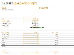Microsoft Excel Balance Sheet Templates Cashier Balance Sheet Microsoft Excel Templates For Excel